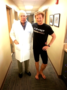 Visiting with Dr. Misken - thanks for fixing my wonky foot 5 decades ago.. :)